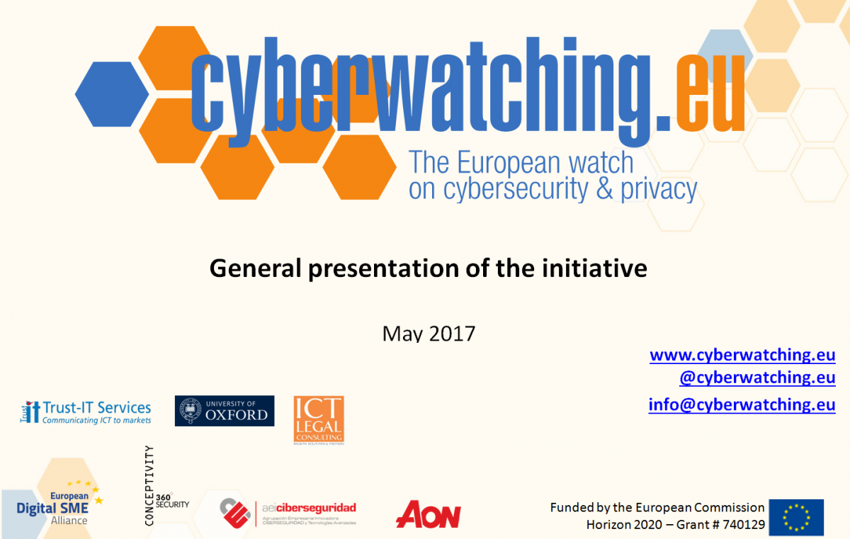 Cyberwatching.eu General Presentation