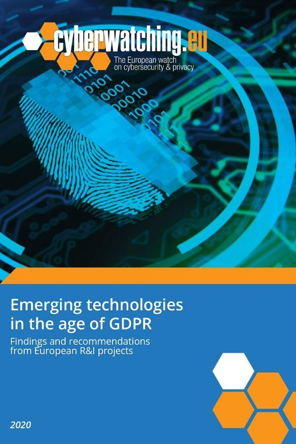 Emerging technologies in the age of GDPR – Findings & recommendations from EU R&I projects